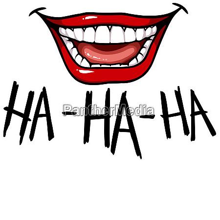 mouth emotion smile fun laugh illustration