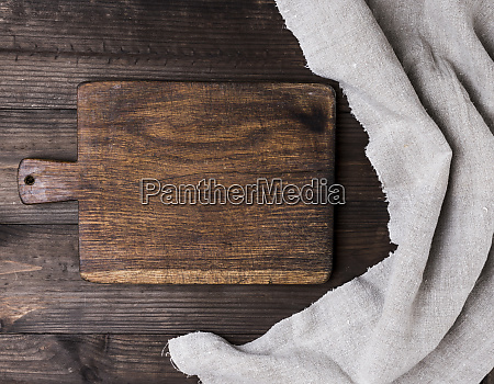 old empty kitchen brown cutting board