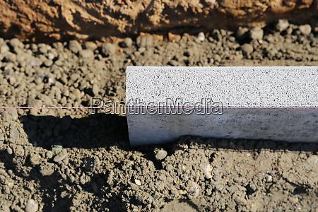curb set construction site