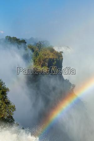 rainbow on victoria falls zimbabwe africa