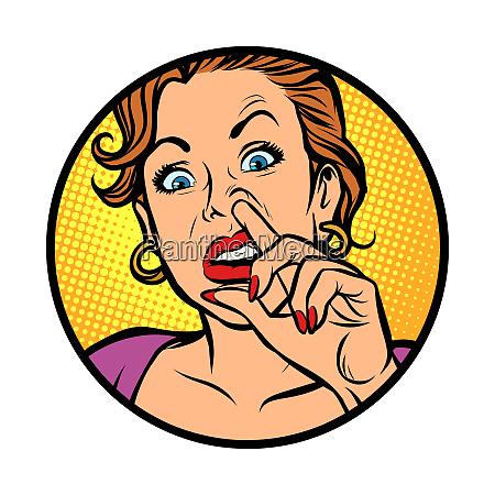 symbol iconwoman picking nose