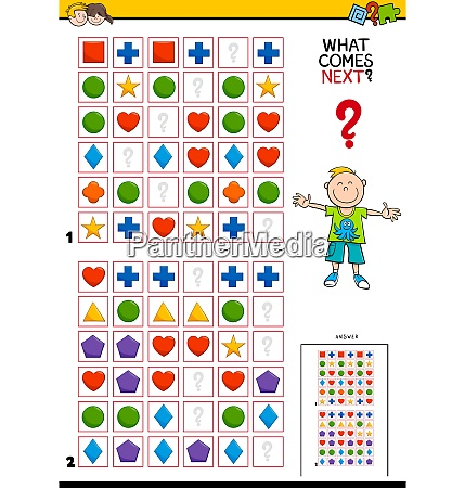 fill the pattern educational game for