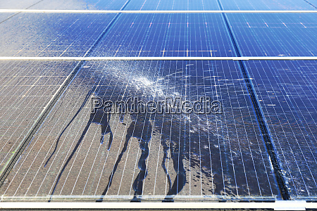 photovoltaic cleaning before and after