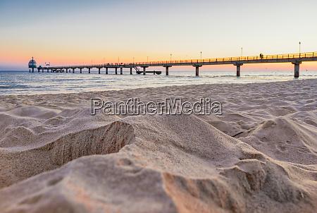 beach drip castle pier bridge zinnowitz