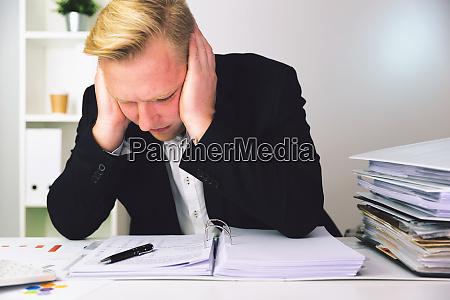 businessman in a dark blue suit
