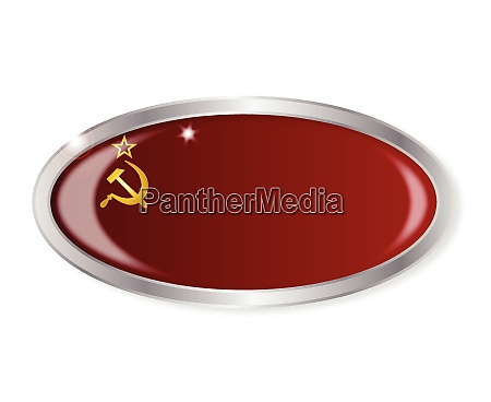 russia flag oval button