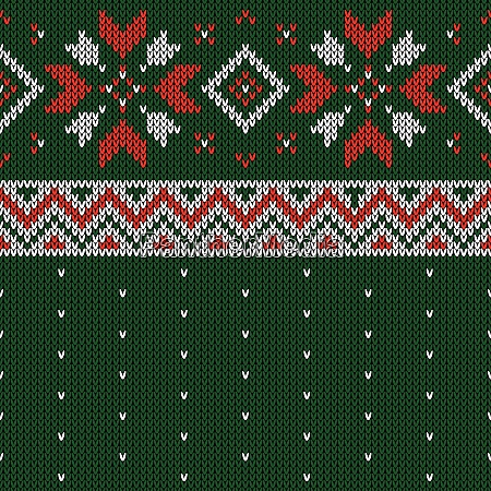 christmas knitted pattern winter geometric seamless