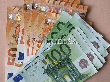 50 and 100 euro notes european