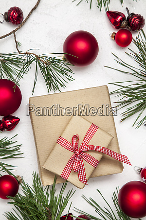 christmas white wood background with christmas