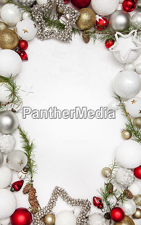 christmas white wood background with