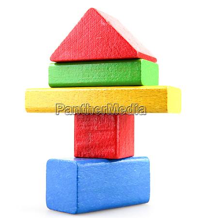 wooden building blocks set childrens
