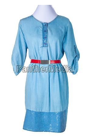woman spring summer dress womens blue