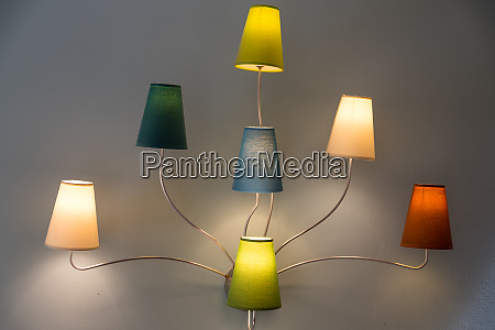 colorful interior lights lamps