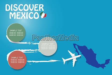discover mexico blank template vector