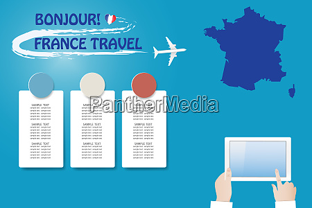 template vector travel to france