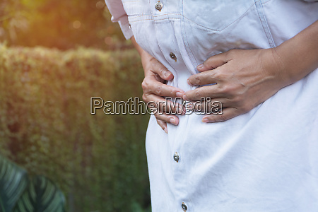 male suffering from stomachache pain a