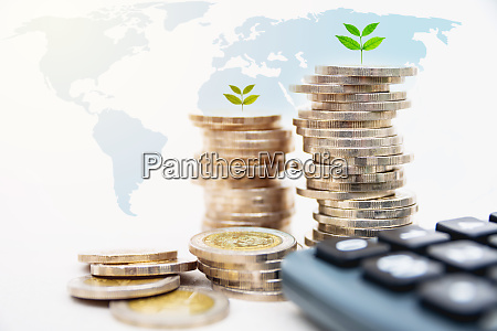 stock financial indices with stack coin