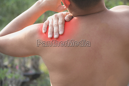 man suffering from chest pain acute