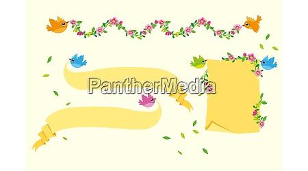 yellow ribbon banner set