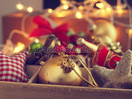 colorful christmas decoration items