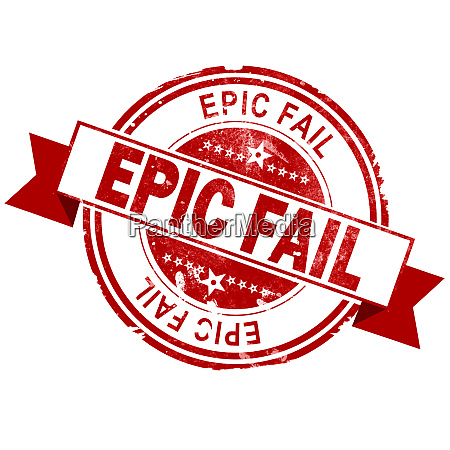 epic fail red vintage stamp