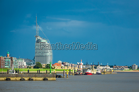 view to the city bremerhaven in