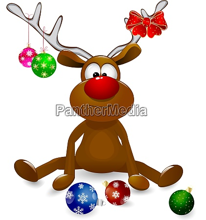 deer, and, christmas, tree, decorations - 25985311