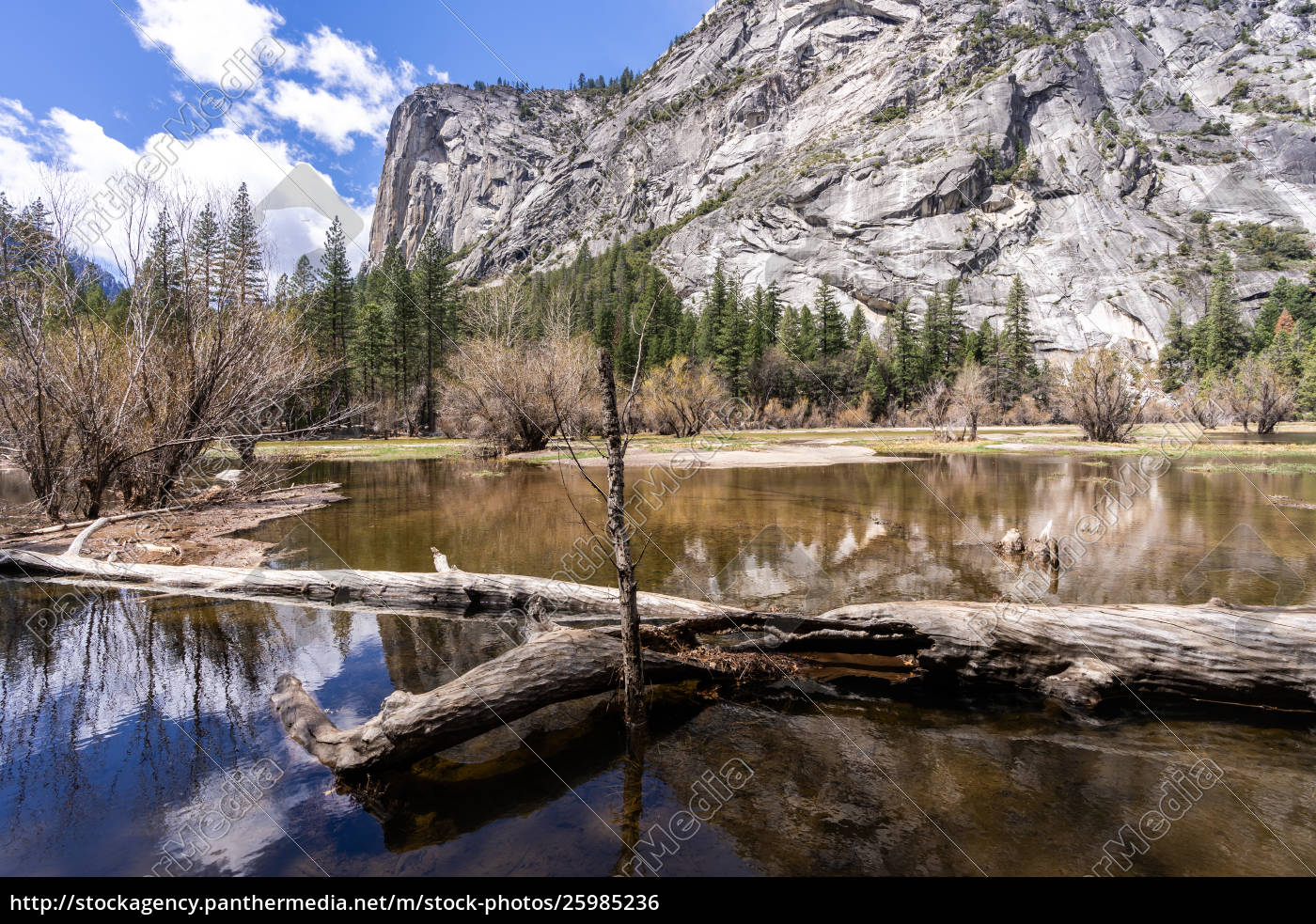 mirror, lake, yosemite, national, park - 25985236