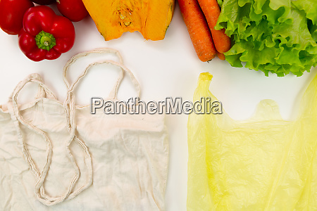 zero waste concept woven bag vs
