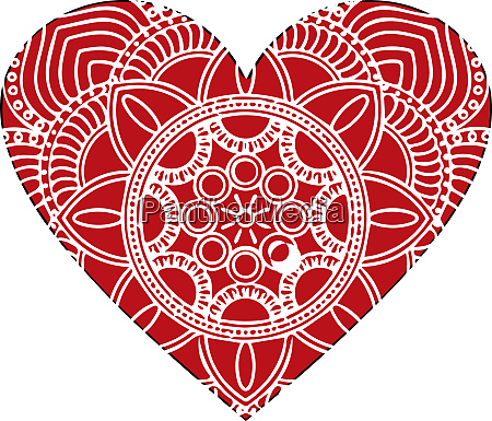 ornate vector heart in victorian style