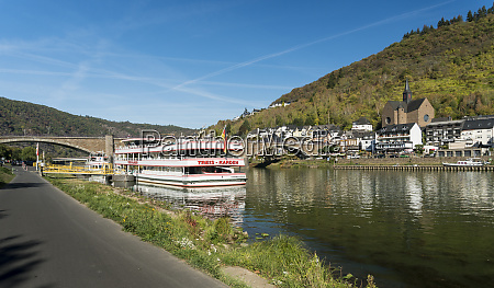 boat on the river moselle germany