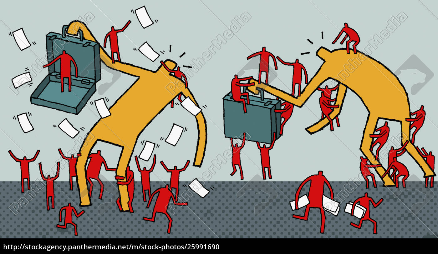 workers, attacking, businessmen - 25991690