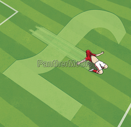 cheering football player on british pound