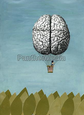 brain hot air balloon
