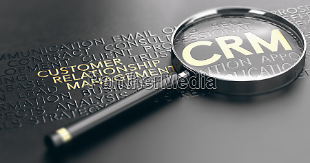 crm customer relationship management concept
