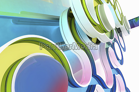 close up of abstract curving pattern