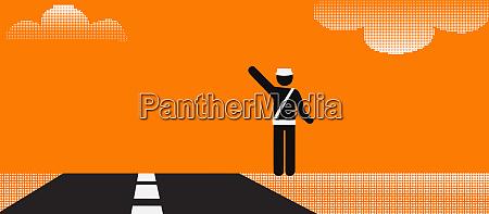pictogram of a highway patrol officer