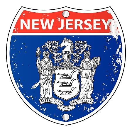 new jersey flag icons as interstate