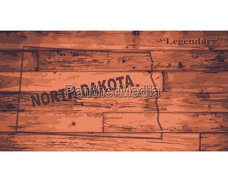 north dakota map brand
