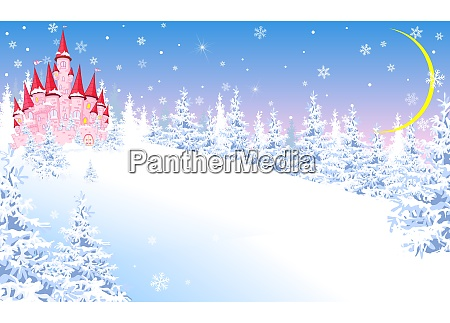 pink, castle, on, the, background, of - 25994749