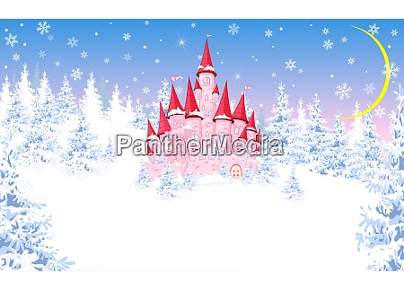 pink, castle, on, the, background, of - 25996827