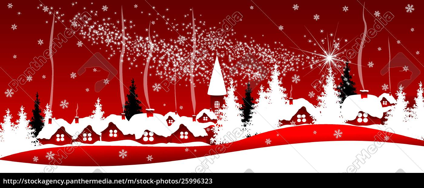shining, christmas, star, over, the, village - 25996323
