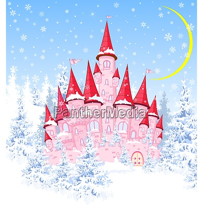castle, in, the, winter, forest - 25998956