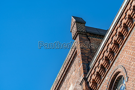 old brick warehouse detail in speicherstadt