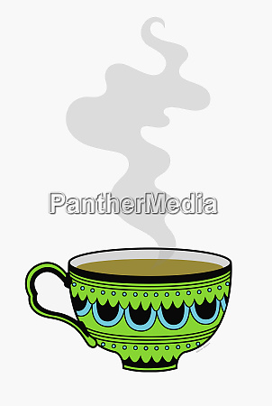 steaming cup of tea