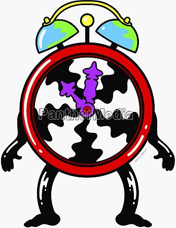 anthropomorphic clock