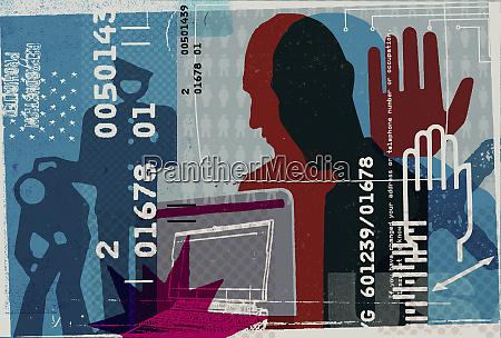 internet crime collage