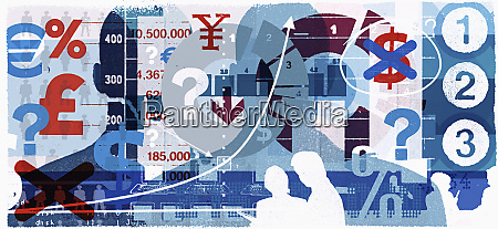 montage of currency images