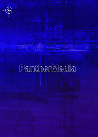 blue montage of cross hairs and