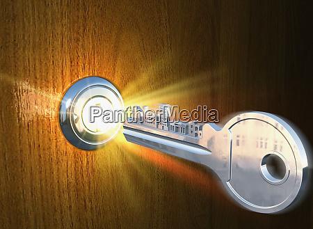 key and glowing lock